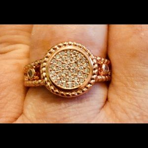 Jewelry - Rose gold filled and CZ ring (sz 10)